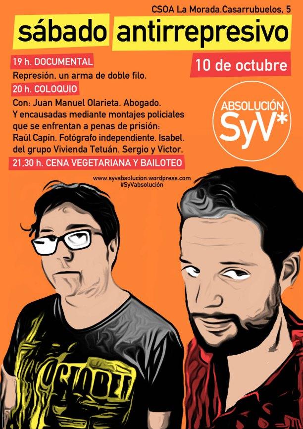 cartel sábado antirrepresivo